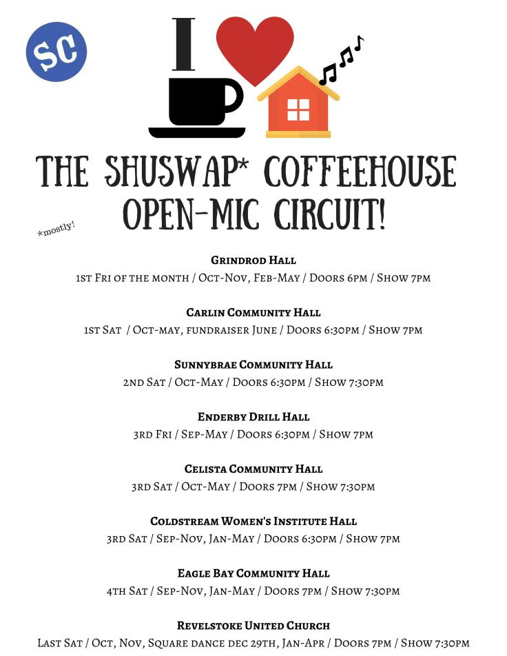 Shuswap Coffeehouse Circuit Poster